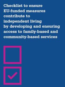 Cover: Checklist to ensure EU-funded measures contribute to independent living
